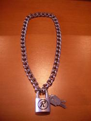 SID VICIOUS PADLOCK CHAIN MADE IN ENGLAND/M,L-SIZE