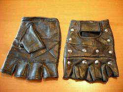 666 STUDDED LEATHER GLOVES/M