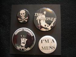 SID VICIOUS BUTTON BADGES/A-SET