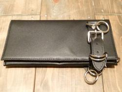 666 LEATHER BELT WALLET BL