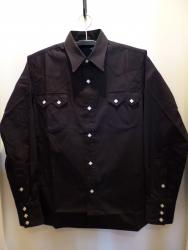 CLASH TYPE WESTERN SHIRT BL/M-SIZE