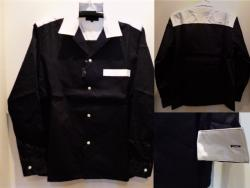 1977 THE CLASH TYPE OPEN COLOR SHIRT BW/M-SIZE