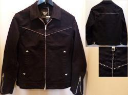 5) PIPED COTTON RIDERS JACKET/M-SIZE